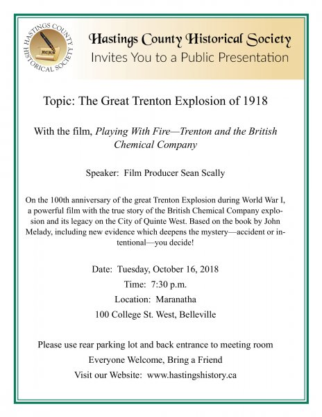 Presentation: Story of the Great Trenton Explosion